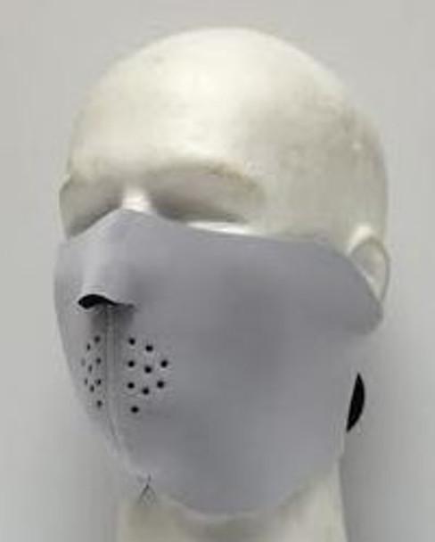 White (Boring) Neoprene Half  Face Mask