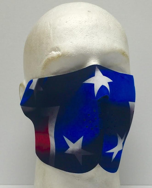 Rebel Flag Neoprene Half  Face Mask