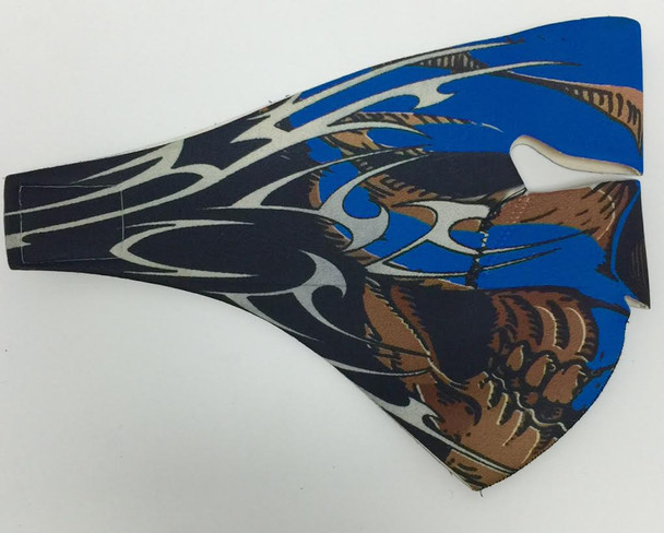 Blue Tribal Skull Neoprene Face Mask