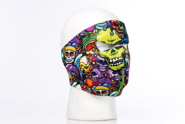 Color Skulls Neoprene Face Mask