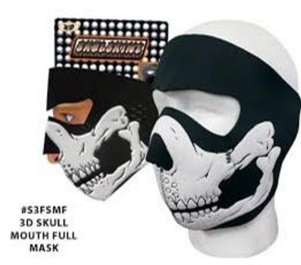 Skulskinz 3D Skull Mouth Full Neoprene Face Mask