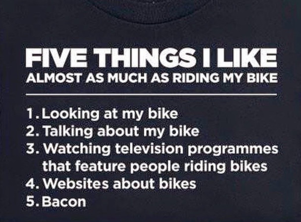 5 Things I Like Almost as Much as Riding my Bike Bike