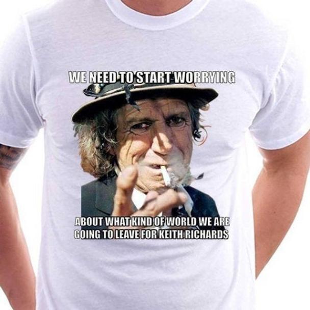 Keith Richards Shirt Rolling Stones Shirt