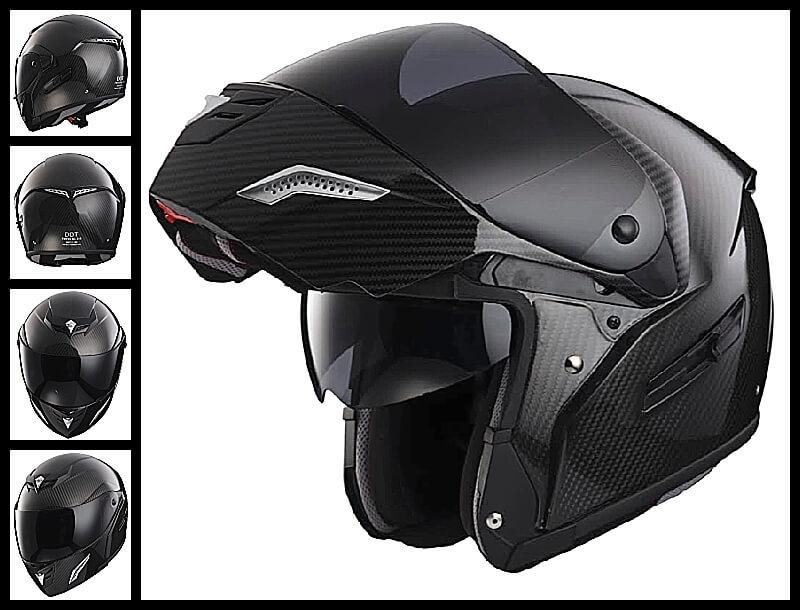 Carbon Fiber Motorcycle Helmets >> Bmf 2 Modular Full Face Carbon Fiber Motorcycle Helmet