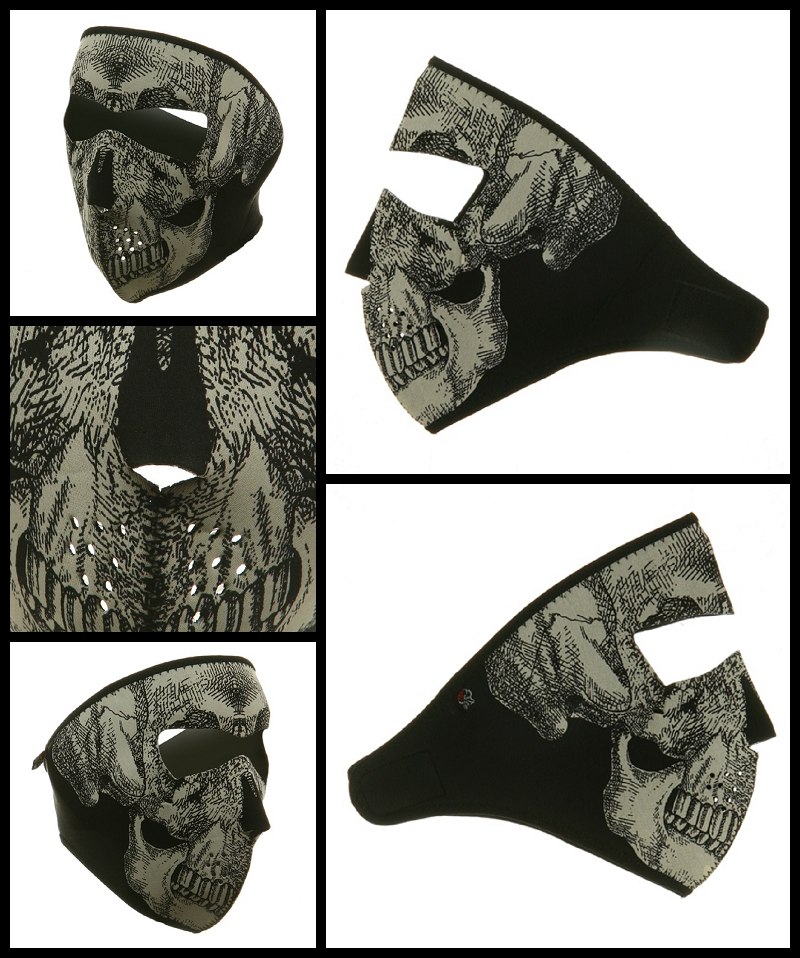 Glow in the Dark Skull Face Mask