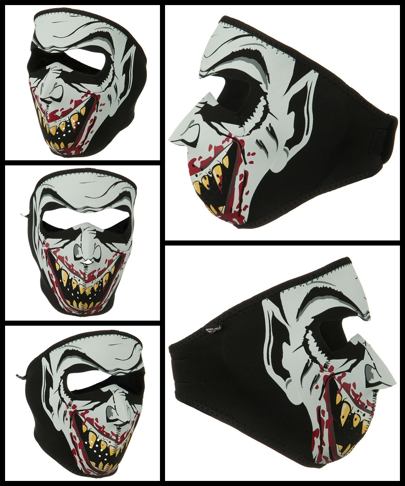 Glow in the Dark Vampire Neoprene Face Mask