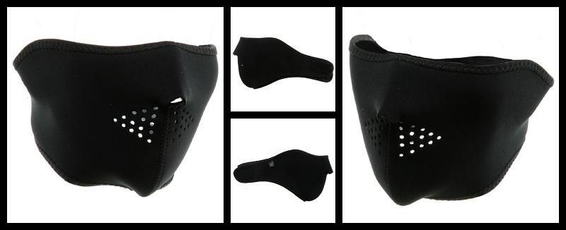 Half  Black Face Mask