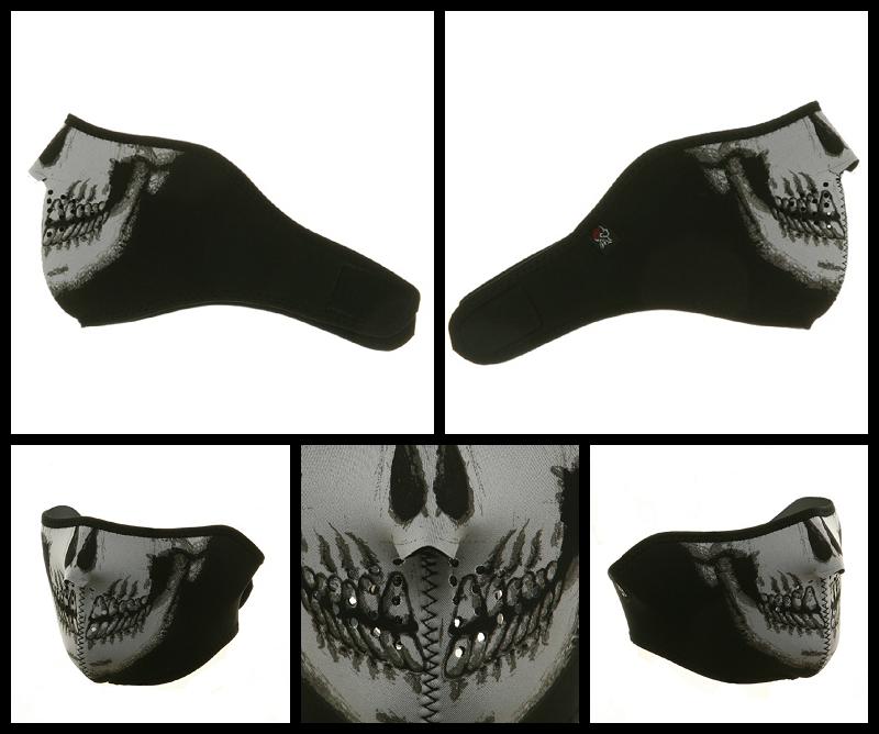 Half Skull Neoprene Face Mask