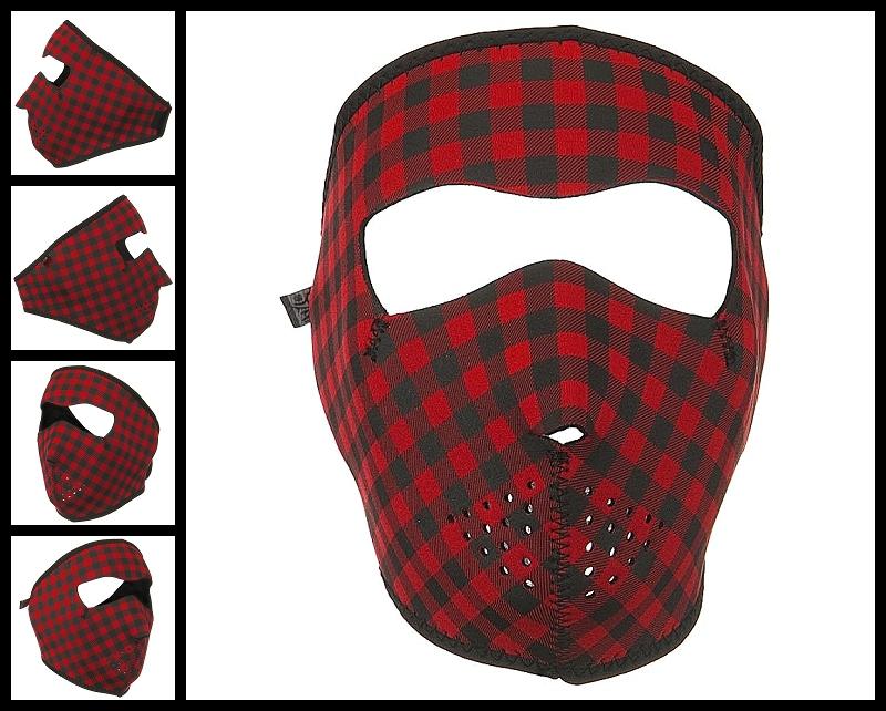 Plaid Face Neoprene Face Mask