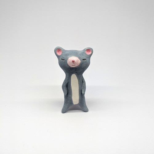 Grey Ceramic Possum Figurine