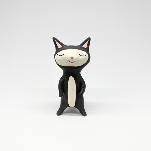 Content Black Cat Figurine