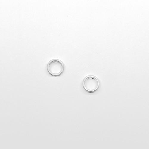 Silver Circle Studs
