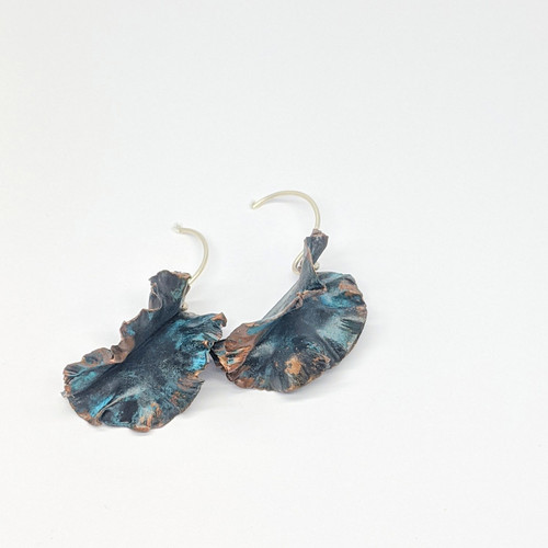 Patina Folded Frill Earrings