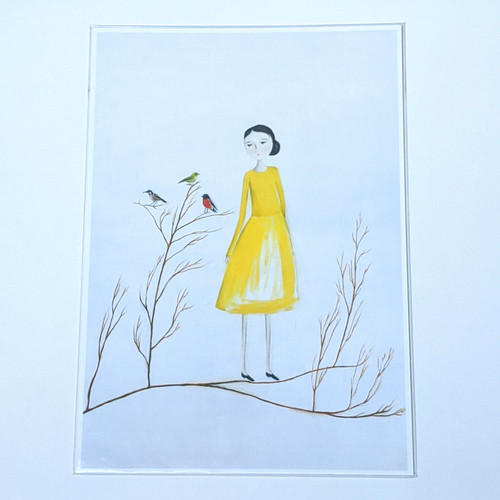 Yellow Dress Archival Print A4
