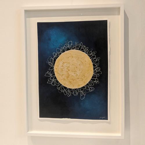 Gold Moon  A2 Framed Original Artwork
