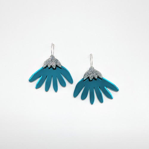 Grande Flora Acrylic Drop Earrings #4