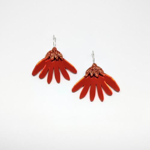 Grande Flora Acrylic Drop Earrings #5