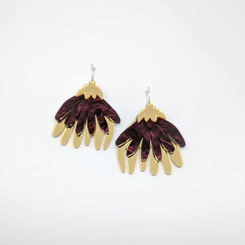 Mega Flora Acrylic Drop Earrings #2