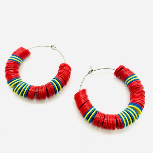 Toto Red #1 Hoop Earrings