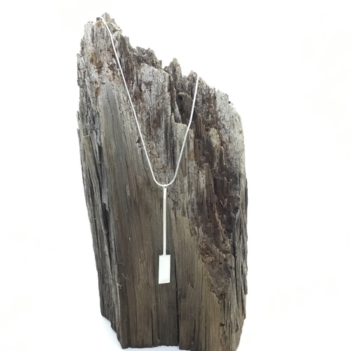 Rectangle Geo 925 Sterling Silver Necklace