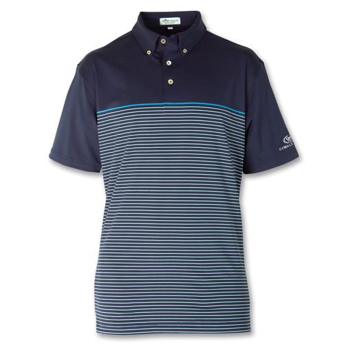 PM Men's Striped Jersey Polo