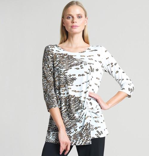 Animal print tunic top