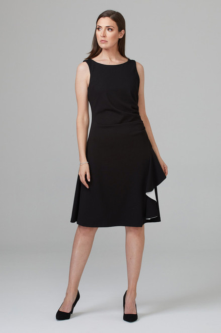 Joseph Ribkoff Black and Vanilla A Line Dress