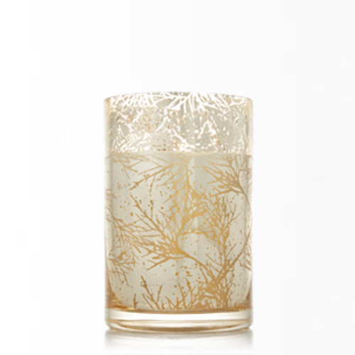 Inspired by the spicy-scented resinous wood, comes Cedar, a fragrance worthy of its namesake. An enchanting incense of ground nutmeg, cedarwoods, cinnamon bark, and fir needles. The dark and smoky aroma with the metallic gold glass that glows beautifully when lit, creates a radiant effect. This scented décor piece makes for a glamourous centerpiece. Our non-metal wicks provide a clean, pure burn time of approximately 136 hours.