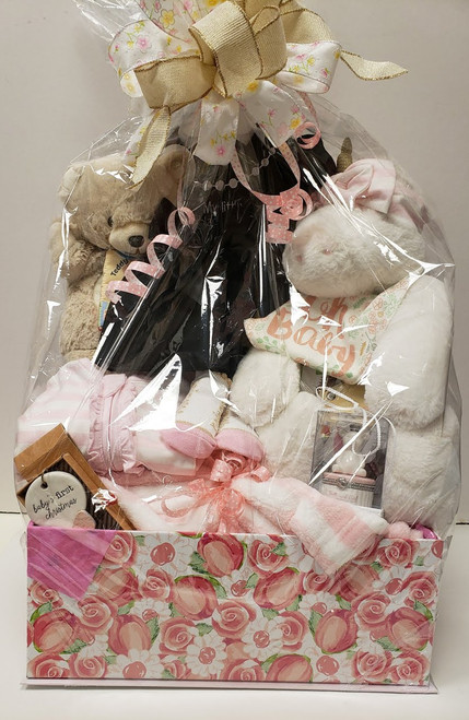 Baby Gift Basket with a Bunny
