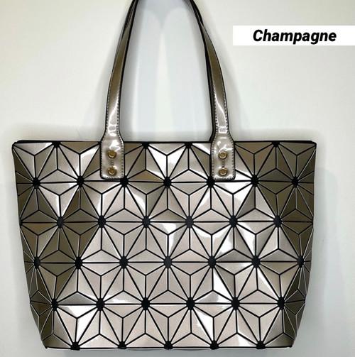 Champagne Geometric Tote