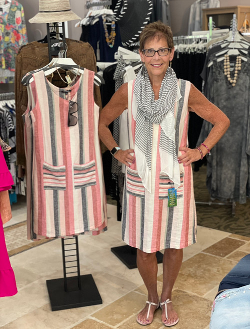 CharlieB Linen Stripe Dress