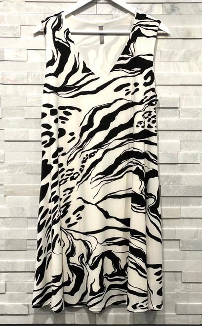 Blk/White Print Dress
