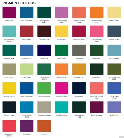 Comfort Colors Color Chart >> Comfort Color 6030 1st Quality Mgl Prepack