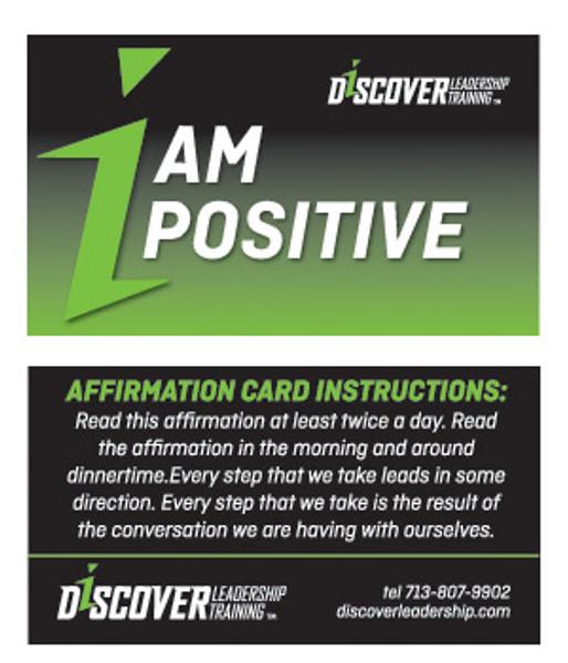 I AM POSITIVE Affirmation Card