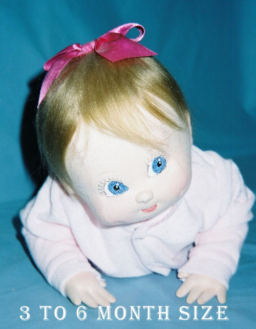 Baby Doll Sewing Pattern - 3 to 6 Months Size Baby by Judi Ward