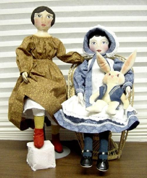 "Isabella Helen - 24"" Vintage Style Cloth Doll Sewing Pattern by Judi Ward"