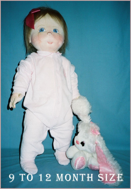 Baby Doll Sewing Pattern - 9 to 12 Months Size Baby by Judi Ward