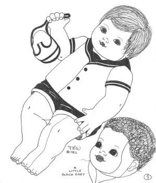 Baby Todd -  Vintage Cloth Doll Sewing Pattern by Judi Ward