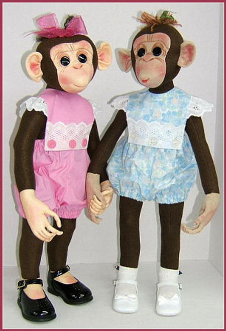 Molly Monkey - Cloth Animal Doll Sewing Patterns by Judi Ward