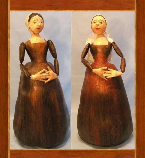 Wooden Doll Reproduction In Cloth - Cloth Doll Sewing Pattern by Judi Ward