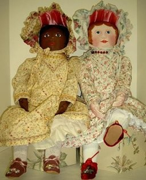 "Emma Rose - 31"" Vintage Style Cloth Doll Sewing Pattern by Judi Ward"