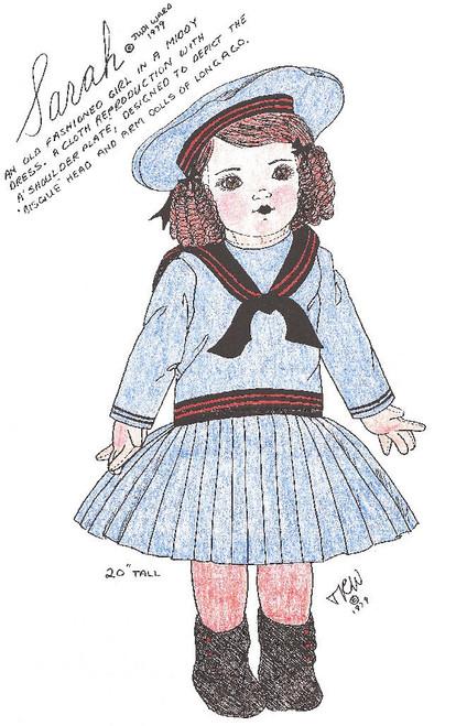 Sarah - Vintage Cloth Doll Sewing Patterns by Judi Ward