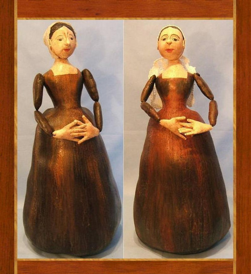 Antique Carved Wooden Doll in Cloth ~ Cloth Doll Making  e-Pattern - PDF Download Sewing Pattern