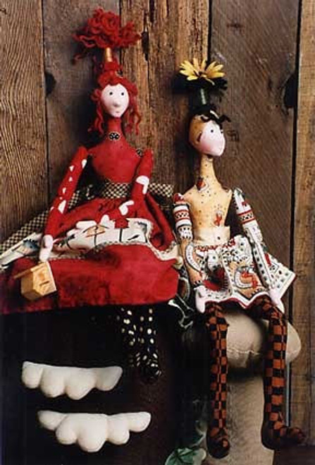 Pop Tops - Cloth Doll Sewing Pattern by Julie McCullough