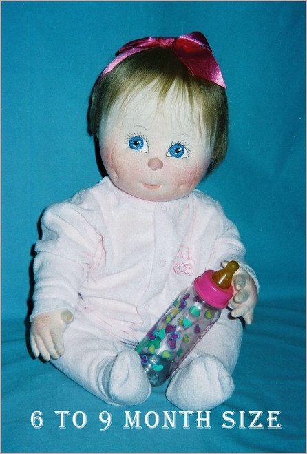 Baby Doll Sewing Pattern - 6 to 9 Months Size Baby by Judi Ward