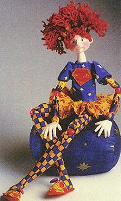 Super Zoey - Cloth Doll Sewing Pattern by Julie McCullough