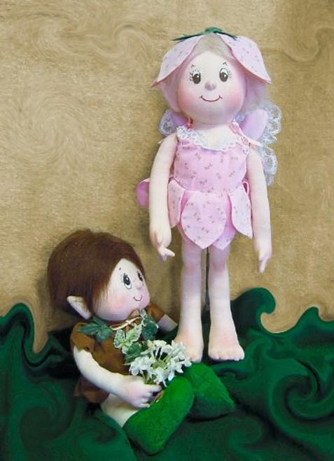 Dewdrop and Elf - Cloth  Doll Sewing Patterns by Judi Ward