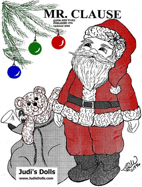 Mr. Clause, Santa Doll ~ Cloth Doll Making  e-Pattern - PDF Download Sewing Pattern