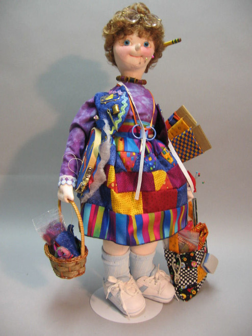 Crazy Quilter - Cloth Doll Sewing Pattern by Julie McCullough