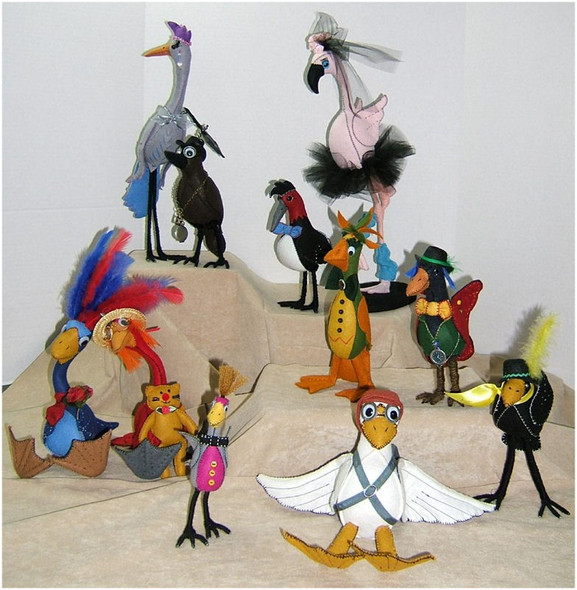 Silly Birds - Fabric Cloth Doll Sewing Pattern by Judi Ward